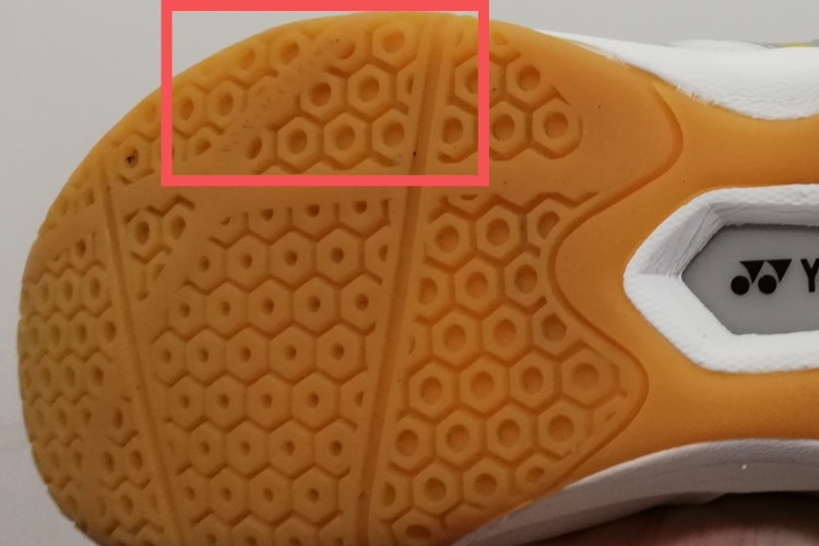 My shoe bottom. Non-marking text