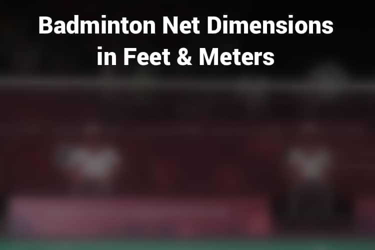 Badminton Net Dimension in Feet and Meters
