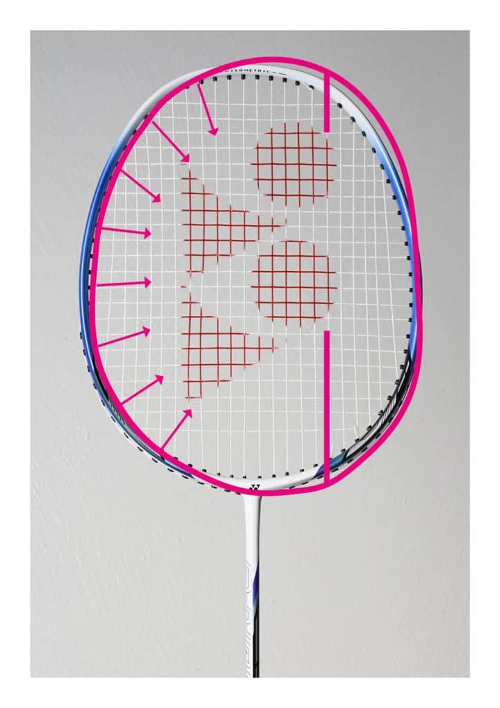 Racket frame after breaking forces